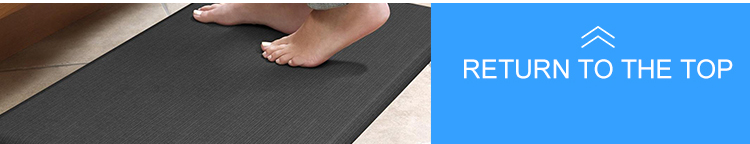polyurethane comfort anti fatigue PVC surface kitchen rugs floor mats