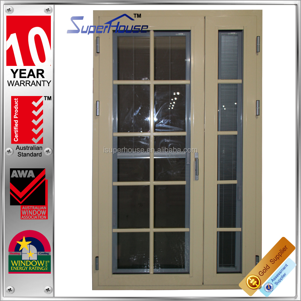 energy saving Australia standard aluminum hinged door double panel door/aluminium exterior french doors and windows