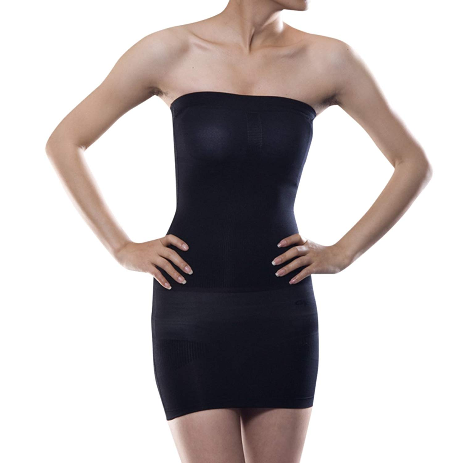 7cb82a8c0a941 Get Quotations · Shymay Women s Full Body Slip Seamless Strapless Shaping  Tube Shapewear Dress