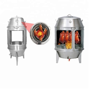Tempered glass charcoal Chinese roast duck oven