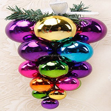 Fengbao Plain Plastic Xmas Ball Cluster 6 inch christmas ball manufactured in China