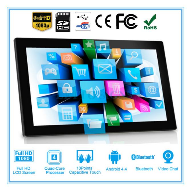 "13.3 Inch lcd/led Android Ad player, 13.3"" USB SD card media <strong>advertising</strong>"