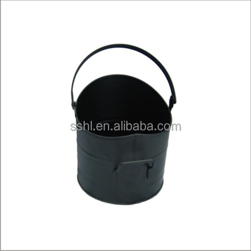 fireplace accessories black metal coal bucket ash coal hod bucket with handle