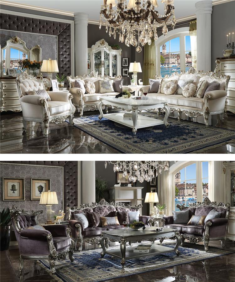 2019 Longhao estilo americano de moda conjunto de sofá Sala 7 asiento de madera maciza sofá de cuero/sofá contemporáneo conjuntos /diseño de juegos didácticos