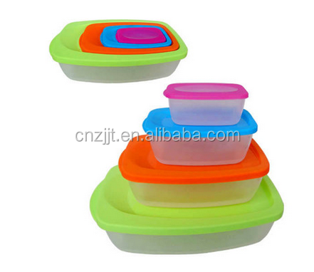 4 Piece Multi-Colored Color Coded Portion Control Container Kit lunch box