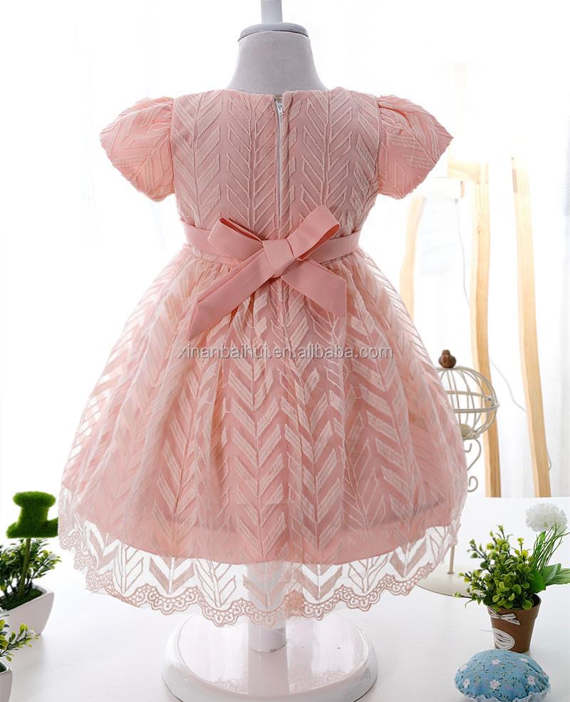 Lujo Corea princesa vestido de novia para 2 años Rosa patrón vestido ...