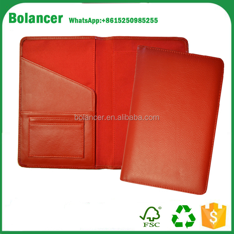 promotional a5 red pu leather book cover