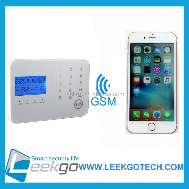 LEEKGO Dual-Network GSM/PSTN security home alarms outputs gsm alarm to many countries