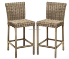 2015 All weather rattan industrial do vintage laranja banqueta