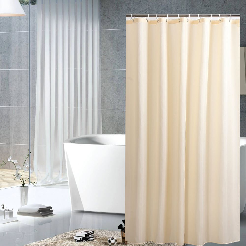 a poly flex translucent snap picture its video and pintuck hookless raised x liner rings main on beige polyester magnets shower chrome voile curtain window with