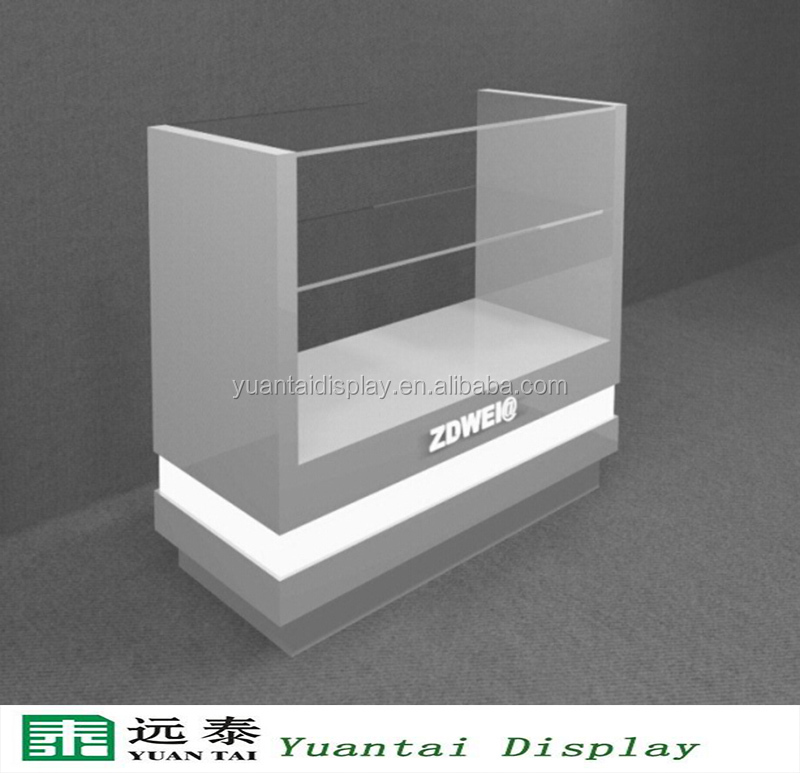 modern design free standing glass corner display shelves stand with ...