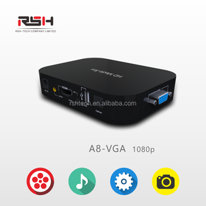 media player digital signage For USB Drives and SD Card HDMI Multimedia Player VGA Output