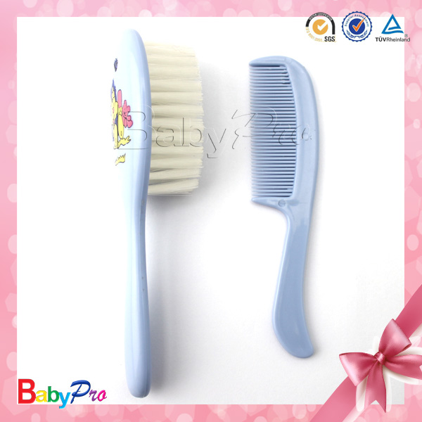 2015 New Design Colorful Baby Hair Brush Comb Set