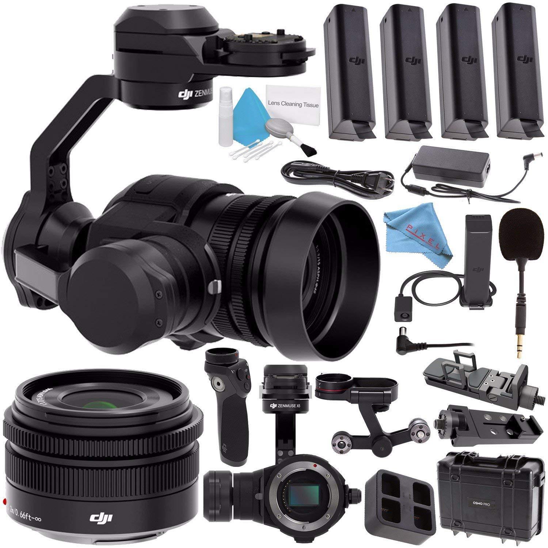 DJI Zenmuse X5 Camera and 3-Axis Gimbal with 15mm f/1.7 Lens + DJI Osmo Handle + DJI Carrying Case for Osmo Pro + DJI Osmo X5 Adapter + DJI Osmo Phone Holder + DJI Osmo 57W Power Adapter Bundle