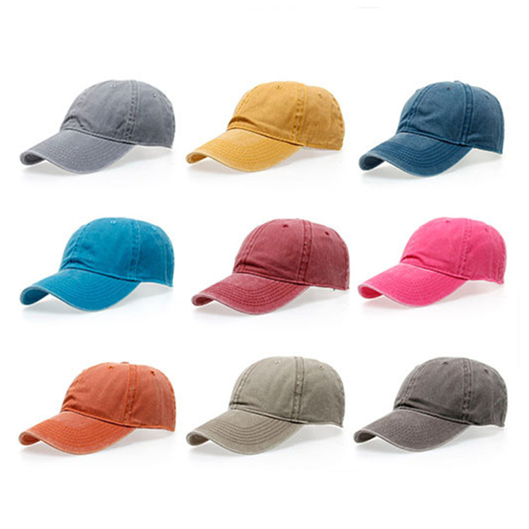 2017 customized blank 6 panel cap men women solid color sports cap