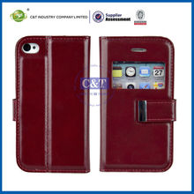 C&T leather book case for iphone 4 4s