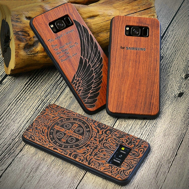 Button Plastic Phone Case for iPhone Bamboo with thin tpu Blank Wood Phone Case for s9 covers