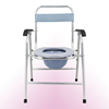 China Hot Sale Hospital Folding Walker/Commode Chair Price/Potty Chair Adult With Handrails And Backrest