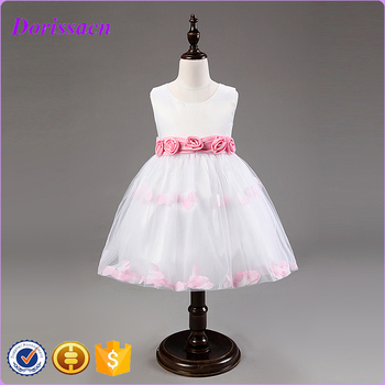 b8bd09c56e08df Baby Frocks Fashion Design Small Clothing Teenage Girl White Birthday Party  Dresses Modern Kids Wear Girls