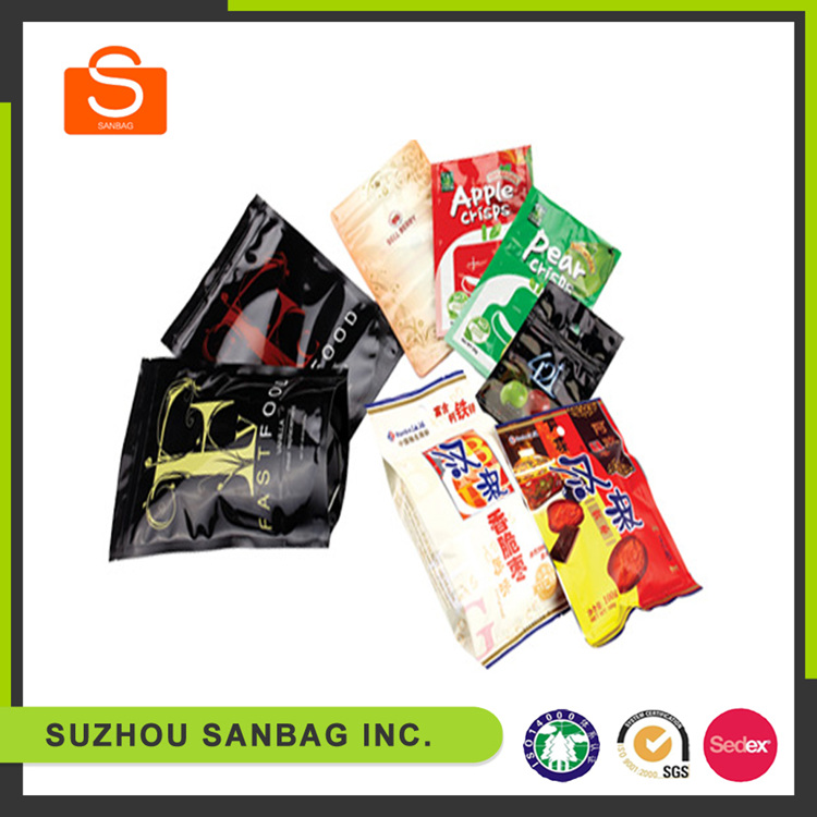2016 new design customized high quality luxury ziplock plastic bags for frozen food