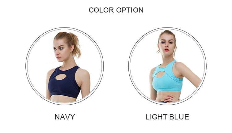 Fitted women yoga wear shockproof running sports bra