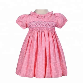 c4747a1da2a Custom Smocked Dresses for Child Pink Girls Smocked Dress Handmade Baby  Smocked Dress Wholesale