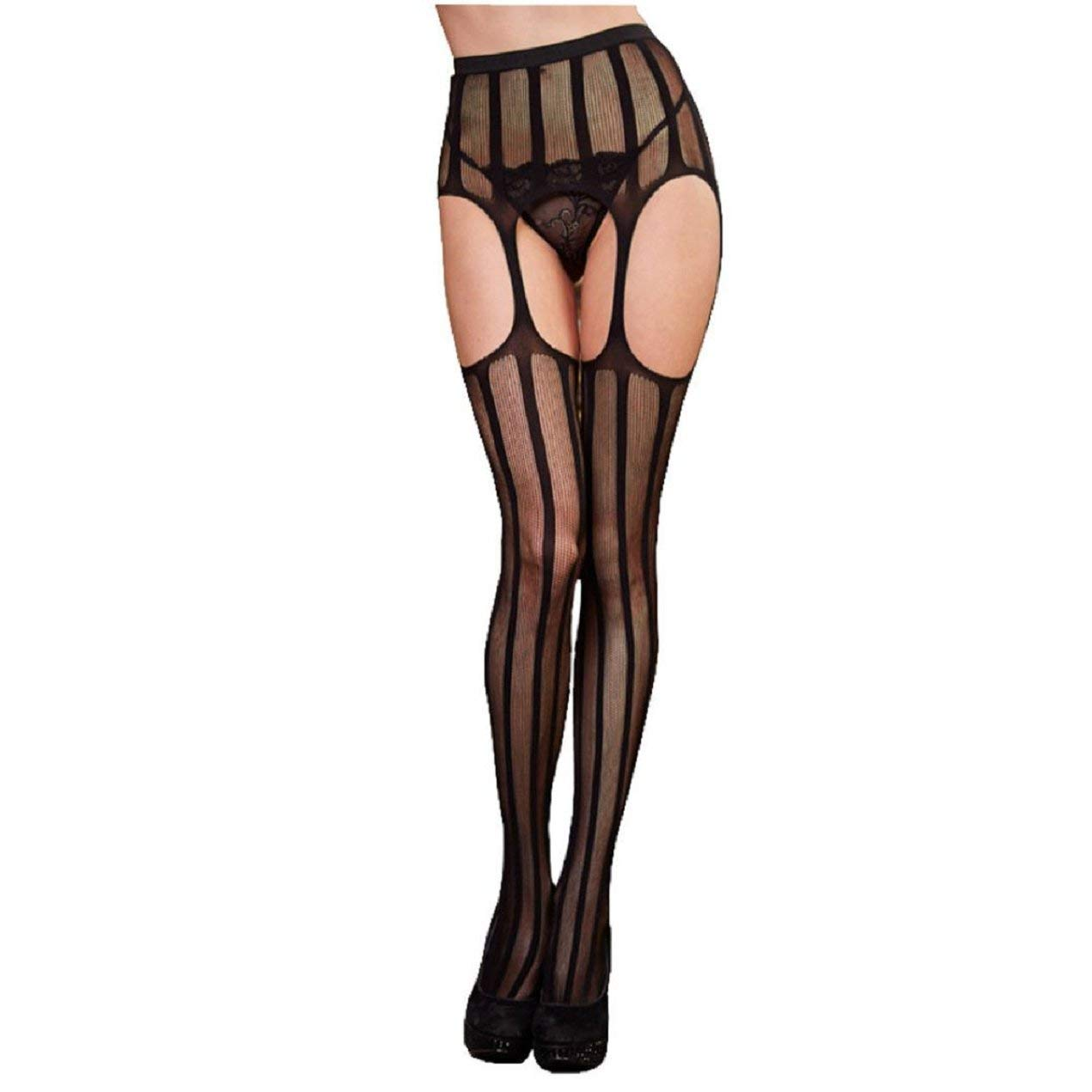 ca1ae56e977f12 Get Quotations · TONSEE Sexy Women Lingerie Net Lace Top Garter Belt Thigh  Stocking Pantyhose