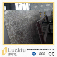 Beveled polished composited various color quartz stone countertop