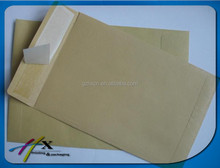 Recyclable brown kraft peal and seal envelope best price hot selling