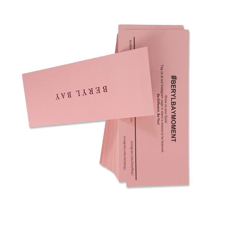 Different size thank you card insert card packaging card