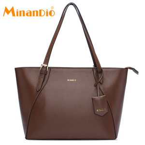 MINANDIO the trend wholesale handbags italy stylish handbags Ladies leather handbag casual shopping tote bag big hand bag