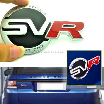 Svr Badge Car Boot Rear Sticker For Sport Supercharged Svr Tailgat