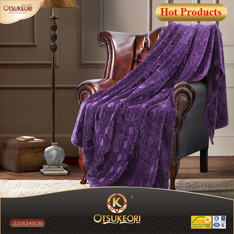 NEW!Luxury style flannel blanket and brushing blanket with dark color.