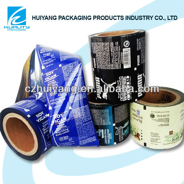 Top Quality packaging plastic film for hair gels packaging