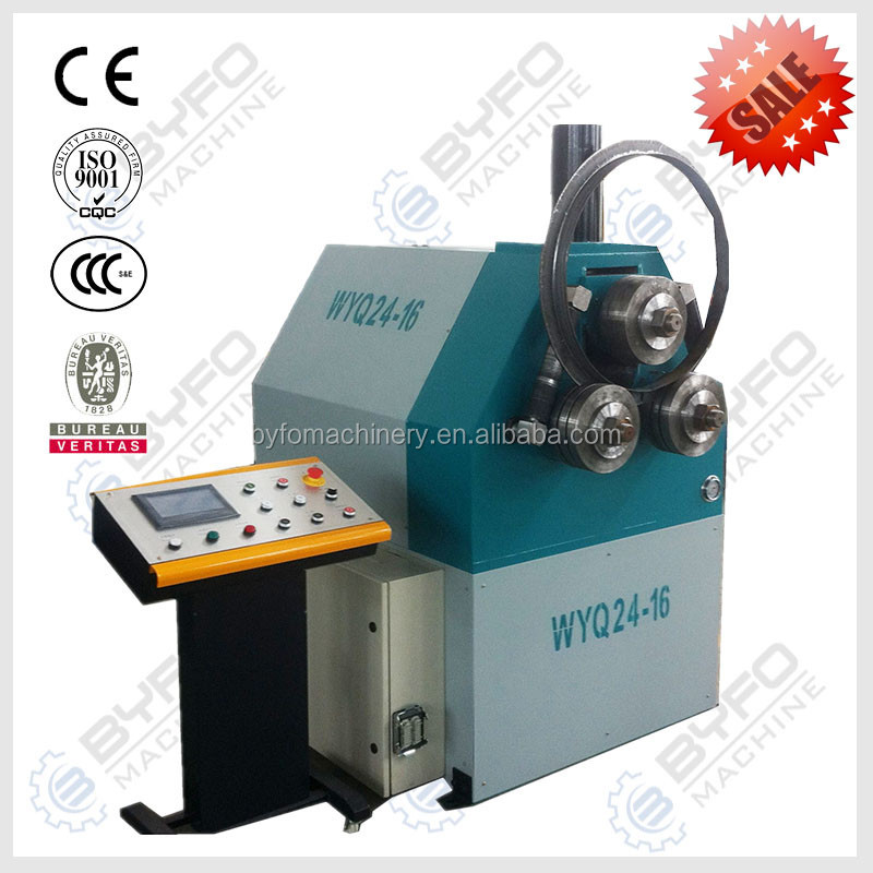 Hydraulic iron angle section bending machine , steel profile roll bending machine price