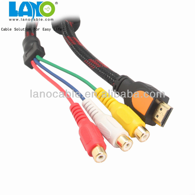 1080p micro hdmi to 5.1 female rca cable China manufacturer