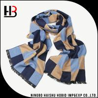 China Hangzhou men 100 silk brushed scarf