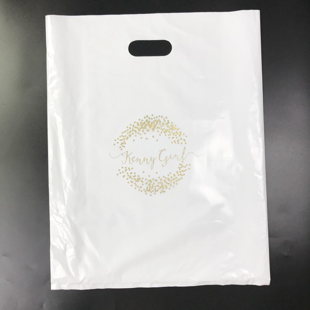Compostable Corn Starch Plastic Cassava Bag With Die Cut Handle