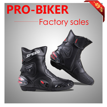Free shipping Ankle joint protection motorcycle boots Pro-Biker SPEED boots for motorcyle Racing Motocross Boots BLACK RED WHITE