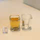 Classic square bar alcohol vodka drinking shot glass