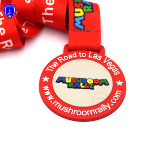 The road to Las Vegas Plastic miraculous pvc medal lovely rubber marathon running medals customized for kids