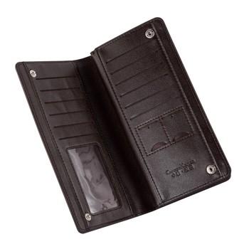 Portemonnee Jongens.Nieuwe Producten Moq 20 Zwart Bruin Zip Rond Creditcard Geld Clip Pu