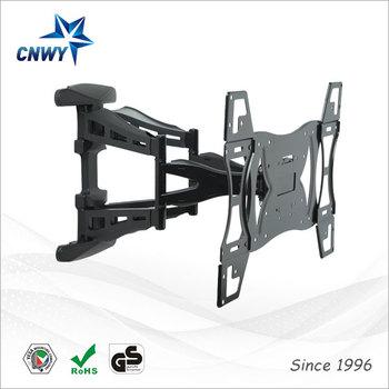 New design full motion angled tv bracket wall mount for - Slanted wall tv mount ...