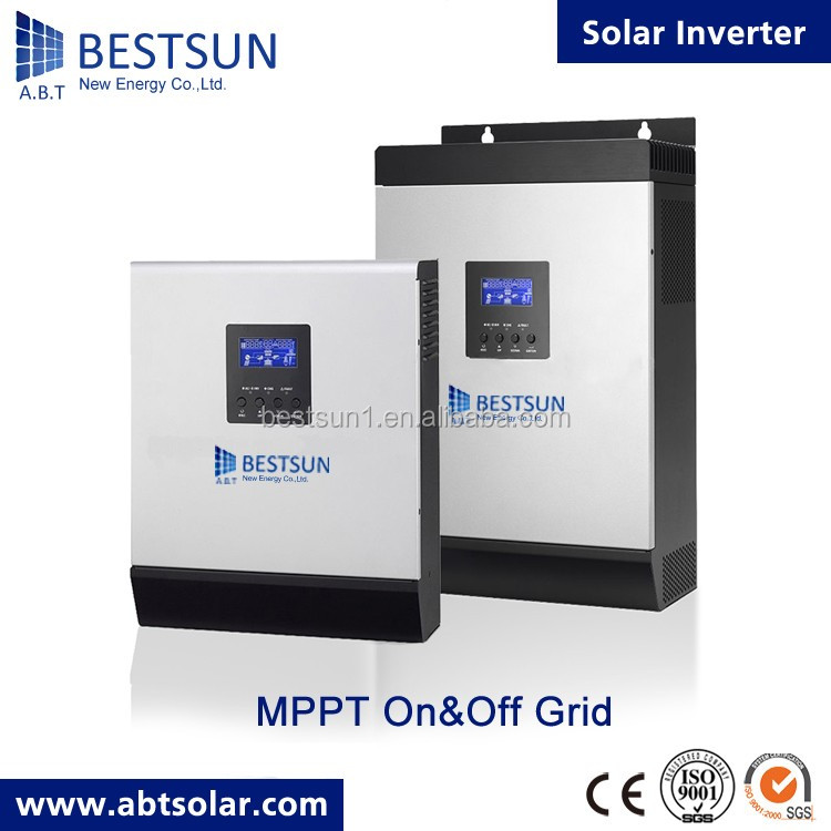 BESTSUN Hybrid solar power inverter 2kw 3kw 4kw 5kw 10kw on/off grid tie combined with MPPT solar charge controller