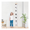 Removable Hanging Measurement Growth Chart Wall Sticker with Wood Frame Canvas for Kids