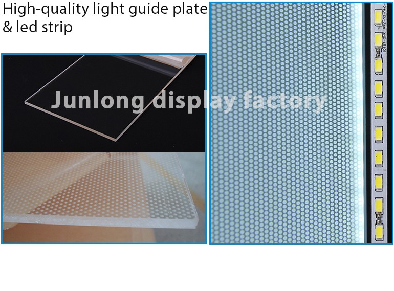 Rectangle shape acrylic material crystal picture frames lighting box