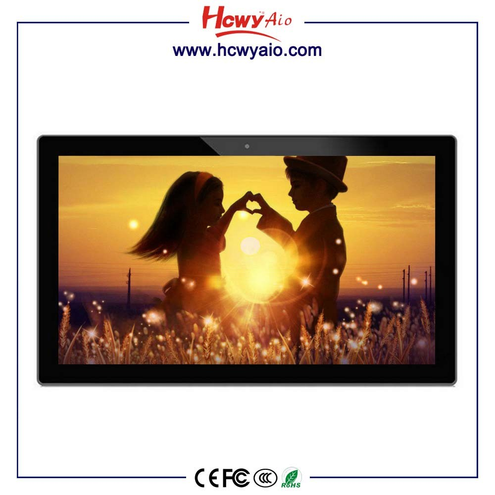 21.5inch Android all in one pc Network Digital LED Screen Frame For Photo / LED Video Player