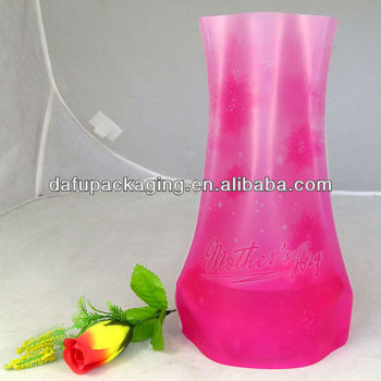 Foldable Collapsible Red Plastic Flower Vases Buy Foldable Collapsible Red Plastic Flower