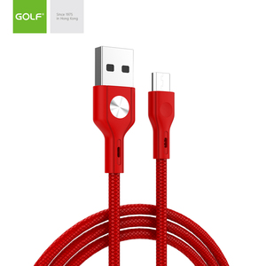 Free sample micro USB cable charge cable for mobile phone 2.4A CD Leather cable
