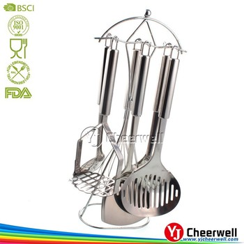 6pcs Stainless Kitchen Utensils Set, French Kitchen Gadgets